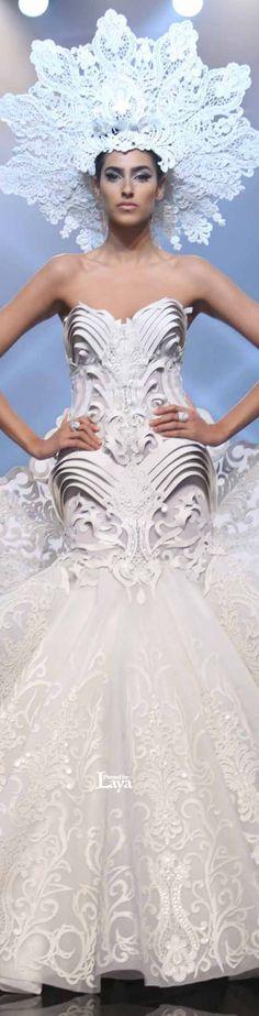 408 meilleures images du tableau art v tements en papier - Robe reine des glaces ...
