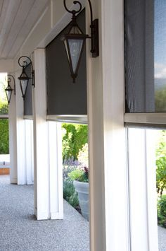 Retractable screens help bring the outside in - Kelowna BC - contemporary - porch - vancouver - by Phantom Screens