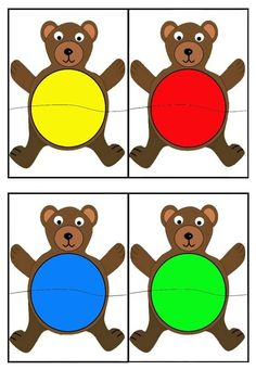 Color sorting and matching activities Autism Activities, Toddler Learning Activities, Montessori Activities, Color Activities, Preschool Worksheets, Kindergarten Activities, Bears Preschool, Teaching Colors, Color Games