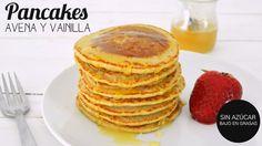 DESAYUNOS SALUDABLES: PANCAKES AVENA   mi secreto para pancakes esponjos...