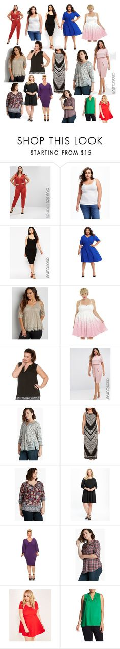 """""""PLUS SIZE: 16 wonderful OUTFITS"""" by gustavo-adolfo-coto on Polyvore featuring moda, Pink Clove, Old Navy, ASOS Curve, Maggy London, maurices, M&Co, Lucky Brand, Studio 1 y Wet Seal"""