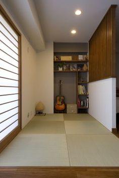 洋室内の畳コーナー モダンなデザインなら、全体の雰囲気を壊さず和も楽しめます