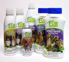 Just Fur Pets Lineup.  All natural pet line for your pet!