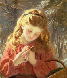 """Sophie Anderson (French, 1823 - 1903), """"A New Friend"""" 