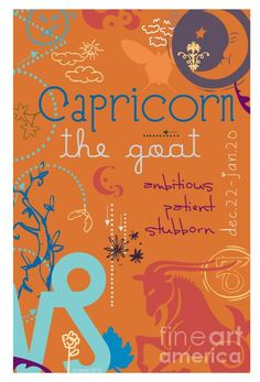 Capricorn Digital Art by Dani Marie - Capricorn Fine Art Prints and Posters for Sale