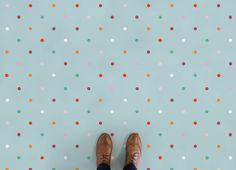 Polka Dot Vinyl Flooring, leading Vinyl Flooring designed and manufactured by Atrafloor. Bring any design concept to life as Flooring. Ships Worldwide.
