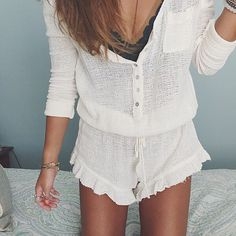 Details by @mailincolette in the Gauze Romper #freepeopleaustralia