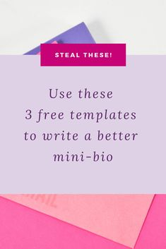 Steal These Free Templates To Write A Better Mini-Bio  Social Media Content, Social Media Tips, Business Website, Online Business, Writing A Bio, Online Marketing, Marketing Tools, Content Marketing, Media Marketing