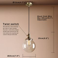 7-8-034-PERMO-VINTAGE-INDUSTRI-PENDANT-LIGHT-GLOBE-GLASS-SHADE-CEILING-LAMP