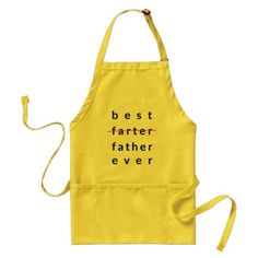 Funny Best Farter Ever Apron. Fathers Day gifts from kids.