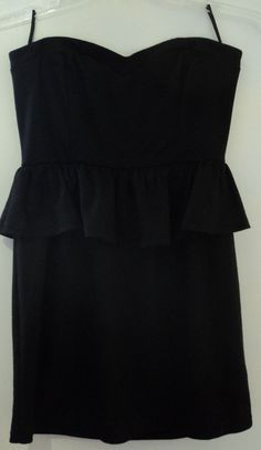 Rhapsody Sleeveless Black Mini Dress Jr Women's Size Large #Rhapsody #TeaDress #CocktailClubwearVacationDate