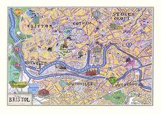 Bristol Map Print from notonthehighstreet.com