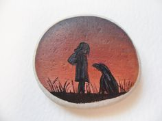 A little girl and her dog Original miniature by Alienstoatdesigns, $22.00