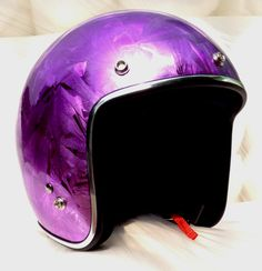 Masei Purple Ice Chrome 610 Open Face Motorcycle Helmet Free Shipping Worldwide