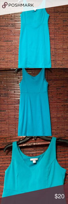 Caribbean Blue Pencil Dress Like new, bright and vibrant Pencil Dress by New York and Company. 100% cotton and super soft. Size XS but fits like a small too ❤ gently used and only worn twice. New York & Company Dresses