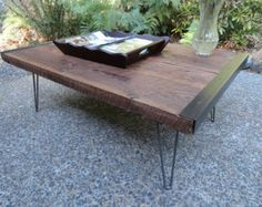 24 x 48 Outdoor Industrial Coffee Table from by MtHoodWoodWorks