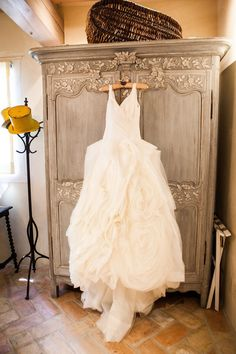 Dress: Vera Wang White