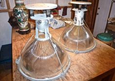 Antique factory lights $800 for pair