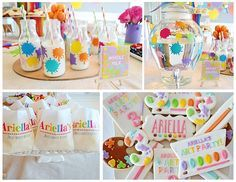 Art-Themed Kids Birthday Party Ideas - from decor and food to art ideas!