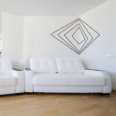 Geometrical wall design 48 Eye-Catching Wall Murals to Buy or DIY via Brit + Co.