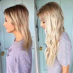 Blonde Bombshell // Total hair transformation using Bombshell Extensions TAPE-INS!