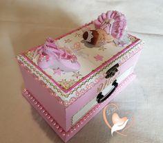 Boîte à musique rose bébé fille ballerine cristal- au coeur des arts - Enfants - Au coeur des Arts