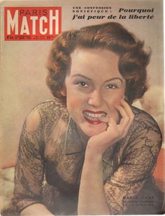 PARIS MATCH N°44 1950 nadia gray edith piaf michele chedid | eBay