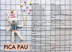 pica-pau amigurumi | Crispin the circus birthday bunny