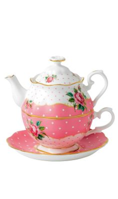 Cheeky pink tea pot set