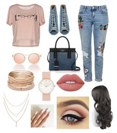 """""""Pink & Denim"""" by veffi23 ❤ liked on Polyvore featuring ONLY, Topshop, Barbara Bui, Kate Spade, Red Camel and Lime Crime"""