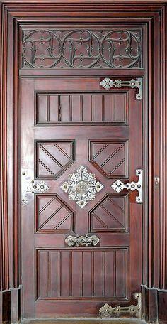 Door in Barcelona with ornate hardware -photo by Arnim Schulz Cool Doors, Unique Doors, Entrance Doors, Doorway, Front Doors, Amazing Architecture, Architecture Details, Portal, When One Door Closes