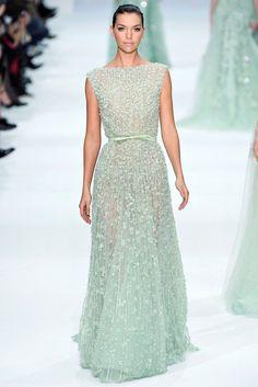 Elie Saab Spring 2012 Couture Fashion Show - Arizona Muse (Next)