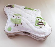 3 Tweens Teens cloth pads Floral Minky by MariposasClothPads, $22.00