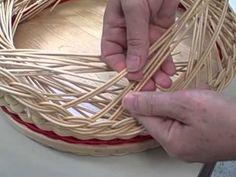 Baskets: Weaving a Gretchen Rim - YouTube