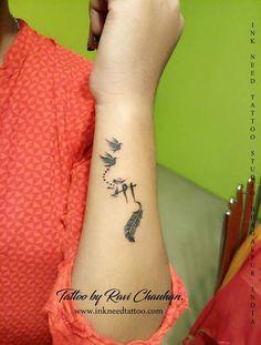 Maa Tattoo Designs, Trishul Tattoo Designs, Tattoo Designs Wrist, Tattoo Designs For Women, Tribal Hand Tattoos, Cool Wrist Tattoos, Bird Tattoo Wrist, Baby Tattoos, Neck Tattoos Women