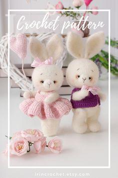 Crochet Bunny, Cute Crochet, Crochet Hooks, Bunny Toys, Bunnies, Eyebrow Embroidery, Crochet Basics, Crochet Patterns Amigurumi, Stuffed Toys Patterns