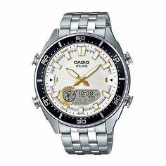 a800874bd9cb Casio Mens Silver Tone Bracelet Watch-Amw-720d-7av