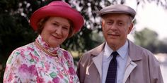 Keeping Up Appearances. Image shows from L to R: Hyacinth Bucket (Patricia Routledge), Richard Bucket (Clive Swift). Copyright: BBC.