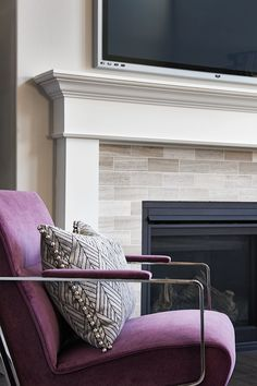 Tile Surround Framed By A Classic Mantel With Pilasters, Cornice And Frieze  In Lacey, · Richmond HomesRichmond American ...