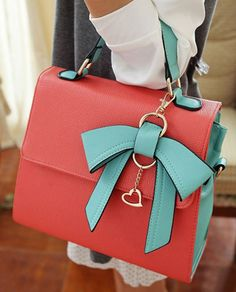 Color Matching and Bow Design Tote Bag