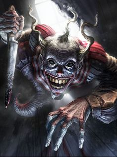 I love Art ,Horror and other nice things. All the Pictures that I post do not belong to me! Joker Clown, Clown Horror, Creepy Clown, Arte Horror, Horror Art, Evil Clown Tattoos, Aztecas Art, Gif Art, Totenkopf Tattoos