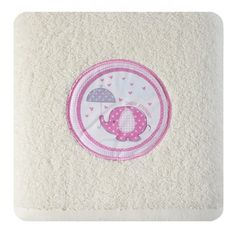 Krémová osuška pre novorodencov so sloníkom - domtextilu. Baby Shower, Babyshower, Baby Showers