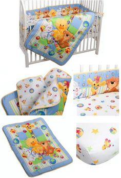 Unisex Baby Crib Bedding Zoo Baby Bedding Witzy Ducky