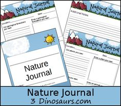 Exploring Nature and a Free Nature Journal & Writing pages - 3Dinosaurs.com