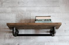ATTENTION! If you need to receive this item by the specific date please ask me if it is possible before placing your order. Bathroom shelf-Kitchen shelves-Entryway shelf-Metal pipe wall shelf-Industrial wall shelf-Loft dressing room shelf-Book shlelf-Rustic shelf Wooden wall shelf with metal 1/2 pipes. Industrial style. Wood is covered by mordant and finished with water-based varnish. Metal parts covered with special clear varnish to prevent rust. Measures of the shelf - 20x50 cm or ...