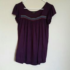 Purple top Preloved purple top. Pretty  Cool color and soft and comfy  fabric.condition is very good. Tops Tees - Short Sleeve