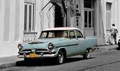 The island of Cuba is well-known for its rich history and culture and car enthusiasts will also enjoy their stay. In Cuba you'll see a myriad of old american and european cars. From old Fords and Chevys from the 50′ to vintage Jags and Volvos.    1956 Dodge Kingsway Export
