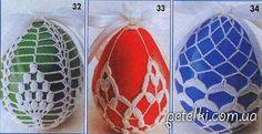 Вязание к Пасхе. Чехлы для яиц. Описание и схемы