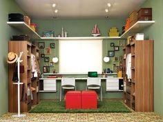 Closet com escritório (home office) juntos   Comprando Meu Apê   Comprando Meu Apê