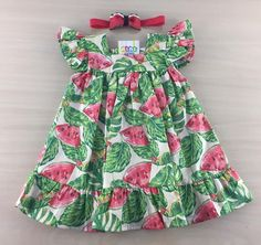 Girls Spring Dresses, Dresses Kids Girl, Little Girl Outfits, Kids Outfits, Kids Nightwear, Baby Dress Design, Baby Frocks Designs, Frocks For Girls, Baby Gown
